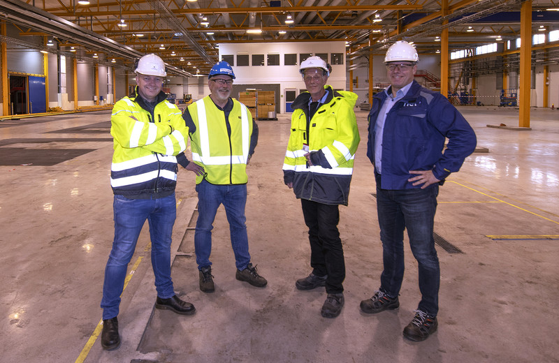 Photo of the team: from left Skjalg Aasland, Thore Larsen, Arne J. Restad, all from Herøya Industrpark AS and Industrial Project Director Arild Berdalen