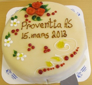 Cake for start up Proventia