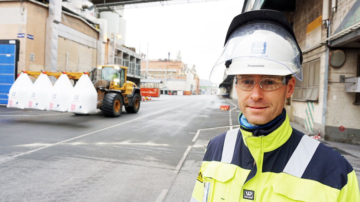 Photo showing Arve Haavik, process data responsible for the Yara Birkeland-project